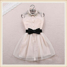 Fashion Lovely Bowknot Waist Belt Elastic Bow Wide Stretch Buckle Waistband