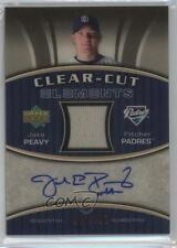 2007 Upper Deck Elements Clear-Cut #CCE-JP Jake Peavy San Diego Padres Auto Card