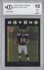 2008 Topps Chrome #TC187 Ray Rice Baltimore Ravens RC Rookie Football Card