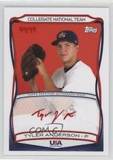 2010 Topps USA Baseball Team Autographs Red Ink #A-21 Tyler Anderson Auto Card