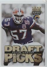 1995 Playoff Absolute #185 Kevin Carter St. Louis Rams Rookie Football Card