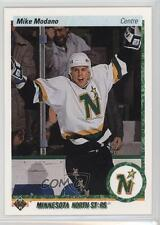 1990 Upper Deck French #46 Mike Modano Minnesota North Stars Rookie Hockey Card
