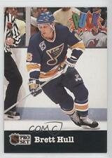 1991-92 Pro Set Puck #24 Brett Hull St. Louis Blues Hockey Card