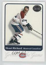 2001-02 Fleer Greats of the Game 13 Henri Richard Montreal Canadiens Hockey Card