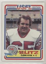 1984 Topps USFL #21 Glenn Hyde Chicago Bears Blitz (USFL) Rookie Football Card