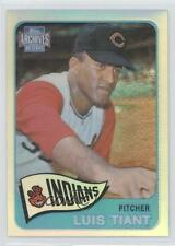2001 Topps Archives Reserve 79 Luis Tiant Cleveland Indians Cincinnati Reds Card