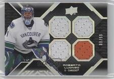 2008-09 Upper Deck UD Black #16 Roberto Luongo Vancouver Canucks Hockey Card