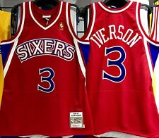 ALLEN IVERSON SIXERS MITCHELL & NESS 100% AUTHENTIC JERSEY ROOKIE 1996-97 NEW