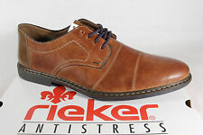 Rieker Men's Lace-up Shoes, Low shoes Sneakers trainers brown leather 13421 NEW