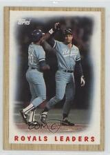 1987 Topps #256 Kansas City Royals (KC Royals) Team George Brett Baseball Card