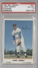 1961 Bell Brand Los Angeles Dodgers #51 Larry Sherry PSA 4 Baseball Card