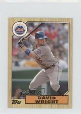 2012 Topps 1987 Minis #TM-26 David Wright New York Mets Baseball Card