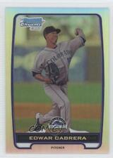 2012 Bowman Chrome Prospects Refractor BCP64 Edwar Cabrera Colorado Rockies Card
