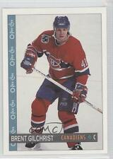 1992-93 O-Pee-Chee #221 Brent Gilchrist Montreal Canadiens Hockey Card