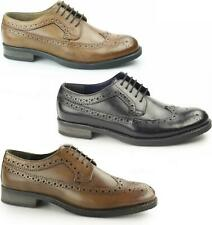 Silver Street London DOWNING Mens Leather Lace Up Longwing Formal Derby Brogues