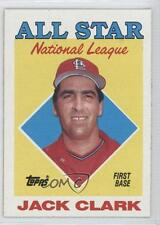 1988 Topps #397 All Star Jack Clark St. Louis Cardinals Baseball Card