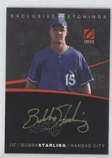 2012 Onyx Platinum Prospects Exclusive Etchings #EE8 Bubba Starling Auto Card