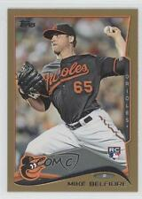 2014 Topps Gold #516 Mike Belfiore Baltimore Orioles Rookie Baseball Card