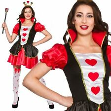 Sexy Short Ladies Queen Of Hearts Costume Alice In Wonderland Fancy Dress Outfit