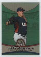 2010 Bowman Platinum Prospects Chrome Green Refractor #PP29 Tyler Anderson Card