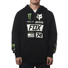 FOX RACING BLACK MONSTER ENERGY PRO CIRCUIT UNION ZIP FLEECE HOODY MENS ADULT