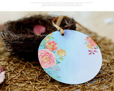 Table Number Card 6 Choice Round Flower Printing Paper   Cards Game Favor 30pcs