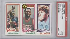 1980 Topps #GMBLBW Bill Walton George McGinnis Bob Lanier PSA 9 Milwaukee Bucks