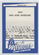 1977 Mr Chef's Fish & Chix #1 San Jose Missions Team Rookie Baseball Card