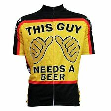 Short Sleeve Cycling Clothes Breathable Bike Sports Jersey THIS GUY NEEDS A BEER