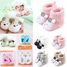 Baby Girls Boys Winter Warm Sock Boots Newborn Toddler Infant Soft Booties Shoes