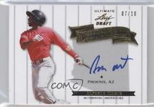 2012 Leaf Ultimate Draft Heading to the Show Gold HS-AM1 Alfredo Marte Auto Card