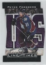 1997 Donruss Preferred Line of the Times #7-B Peter Forsberg Colorado Avalanche