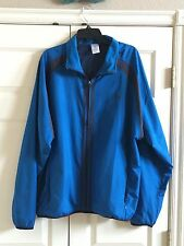 ADIDAS CLIMAPROOF BLUE/BLACK FULL ZIP MENS WINDBREAKER GOLF SPORTS JACKET XL