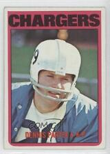 1972 Topps #163 Dennis Partee San Diego Chargers Football Card