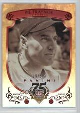 2014 Panini Hall of Fame Red Shield #21 Pie Traynor Pittsburgh Pirates Card