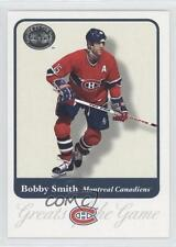 2001-02 Fleer Greats of the Game #50 Bobby Smith Montreal Canadiens Hockey Card