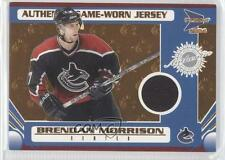 2003 Pacific Prism #148 Game-Worn Jersey Brendan Morrison Vancouver Canucks Card