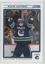 2012-13 Score #458 Maxim Lapierre Vancouver Canucks Hockey Card