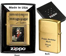 ZIPPO LIGHTER  BEETHOVEN  CUSTOMIZED PERSONALISED YOUR PHOTO TEXT BIRTHDAY GIFT