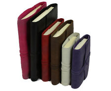 Papuro Milano Refillable Leather LINED Journal - 3 Sizes and 6 colours