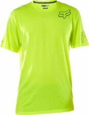 NEW FOX RACING MENS FLO YELLOW CONFIRMATION SS TECH SHORT SLEEVE S/S TEE SHIRT