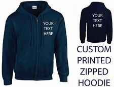 ~CUSTOM PRINTED ZIPPED HOODIE~ , Personalised - Stag / Hen / Workwear / Event