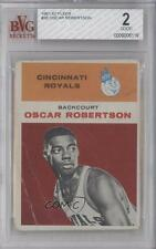 1961 Fleer #36 Oscar Robertson BVG 2 Cincinnati Royals RC Rookie Basketball Card