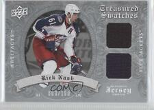 2008 Upper Deck Artifacts Treasured Swatches Dual Silver #TSD-RN Rick Nash Card