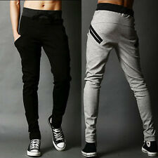 New Mens Skinny Sports Trousers Gym Running Casual Tracksuit Slacks Sweat Pants