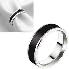 Newest Men Women Black Couple Rings Lover Wedding Band His / Her Promise Ring