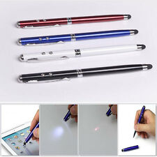 4 in 1 Red Laser Pointer White LED Torch Screen Stylus Ball Pen PDA Touch Pen