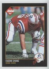 1992 Collector's Edge 191 Eugene Chung New England Patriots Rookie Football Card