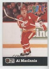 1991-92 Pro Set Puck #5 Al MacInnis Calgary Flames Hockey Card