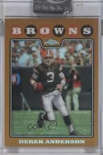 2008 Topps Chrome Gold Refractor #TC18 Derek Anderson Cleveland Browns Card